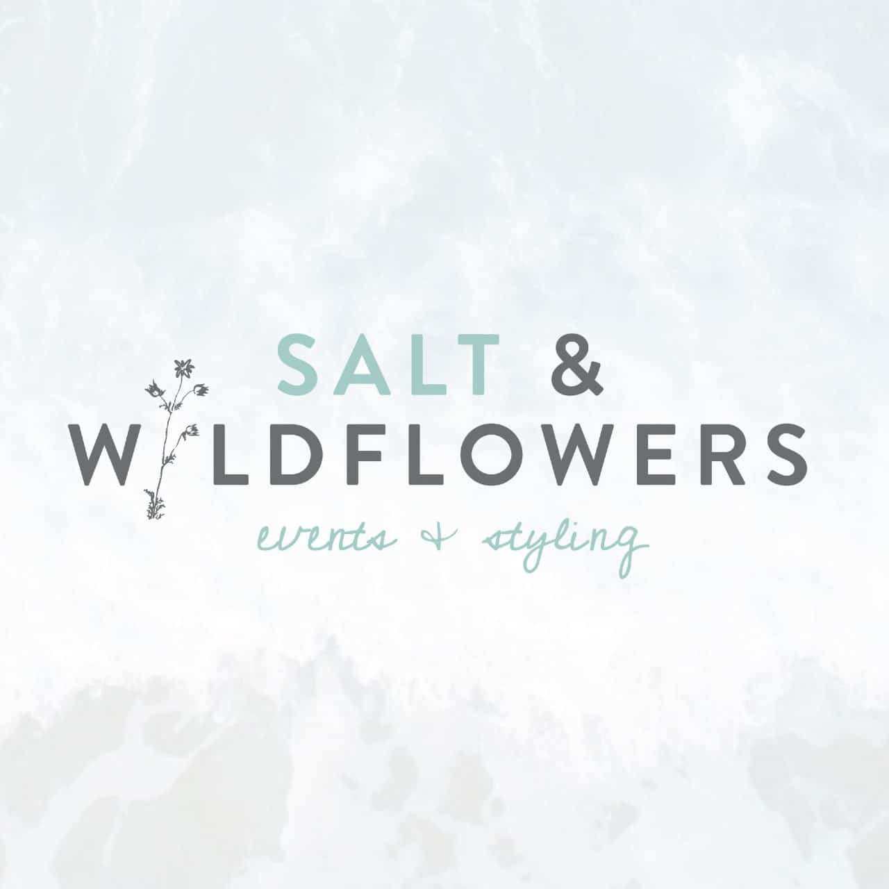 salt and wildflower logo designer