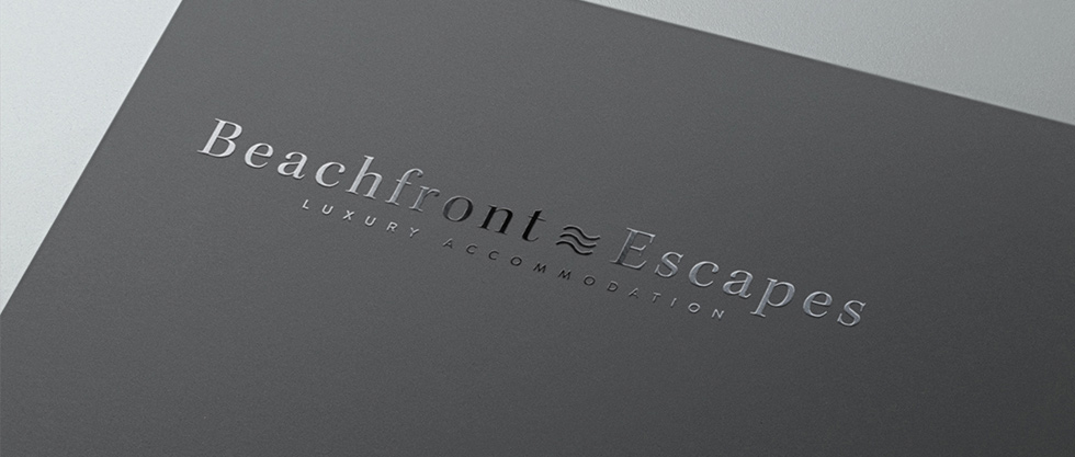 beachfront business card design