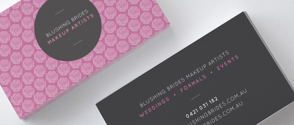 blushing brides business card design