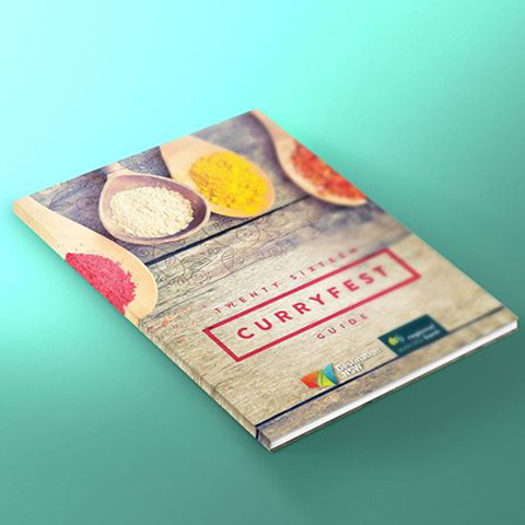 curryfest brochure design