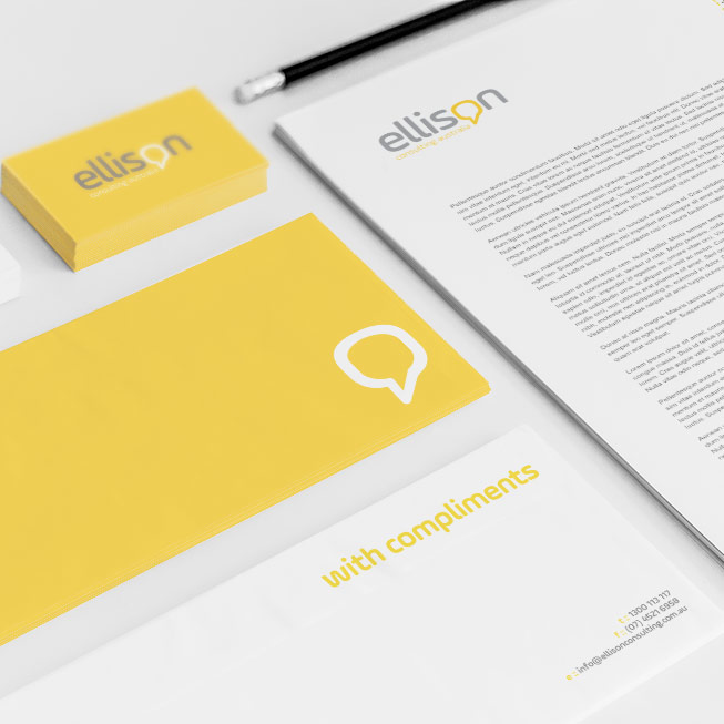 ellison business stationary design
