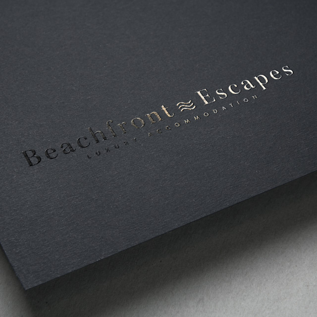 beachfront escapes coffs logo design