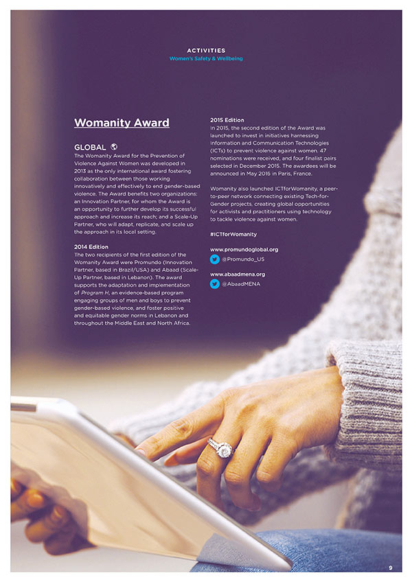 womanity annual report design