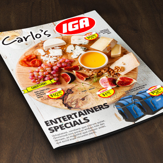 IGA catalog design coffs