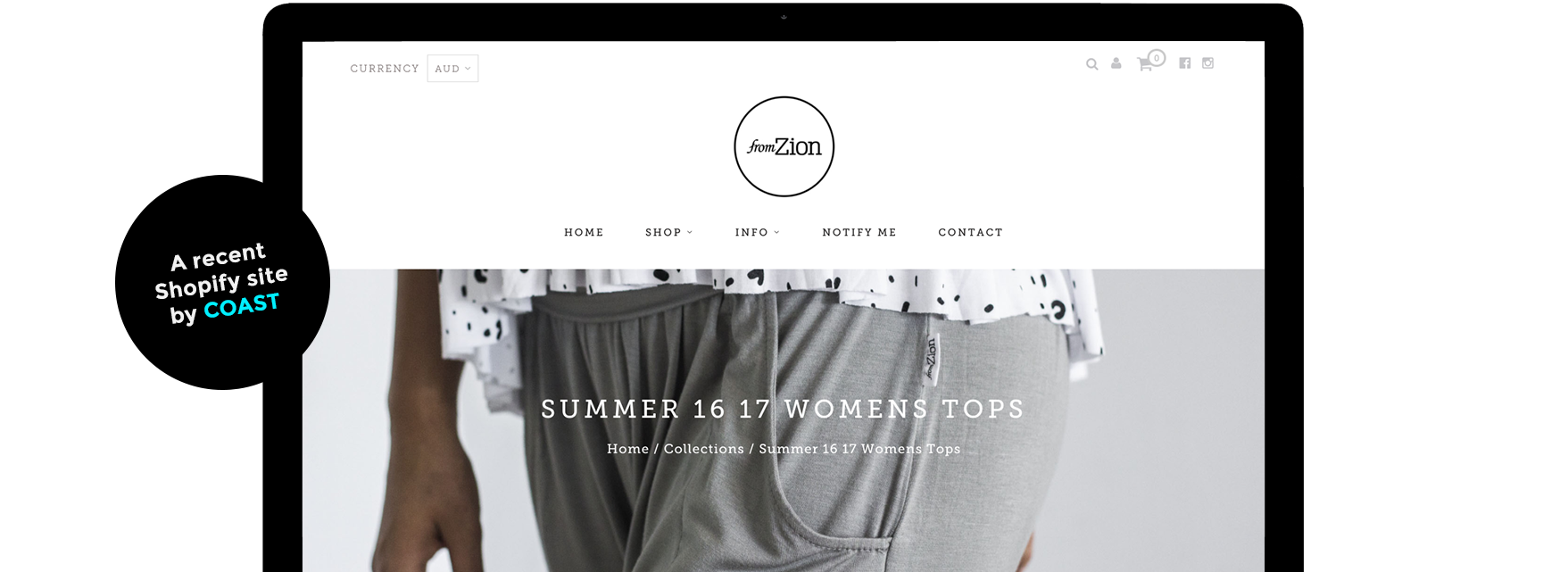 from zion shopify website development